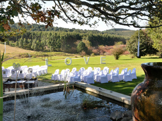 Lythwood garden wedding