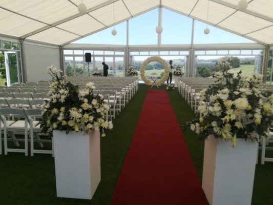 Lythwood Weddings Tent Ceremony